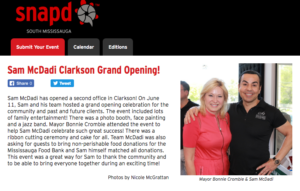Sam McDadi Clarkson Office Grand Opening Snap'd